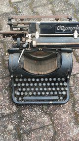 Very old typewriter Olympia in Ramstein, Germany