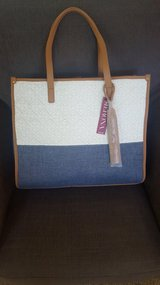 *New*  White & Chambray Blue Merona Tote in Vacaville, California