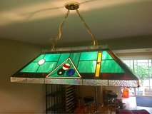 Pool Table Light, stained glass in Bolingbrook, Illinois