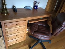 Amish Made Cherry Wood Desk and Chair in Sugar Grove, Illinois