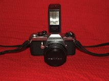 Pentax ME 35mm SLR Camera / Flash / Protective Case in Naperville, Illinois