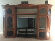 Solid Oak Entertainment Center in Fort Carson, Colorado