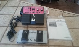 BOSS RC-30 Loop Station w/ ac adapter with FS-6 Dual Pedal in Alamogordo, New Mexico