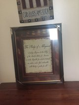 Framed Pledge of Allegiance from Hobby Lobby in Camp Lejeune, North Carolina