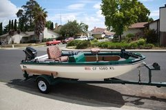15'  Bass Boat, 40hp and trolling motor in Fairfield, California