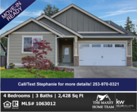 Open House Sat & Sun! REDUCED 4BD Home For Sale in a Great Community! in Fort Lewis, Washington