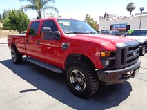 2008 Red Ford F350 4X4 Crew Cab XLT in Temecula, California