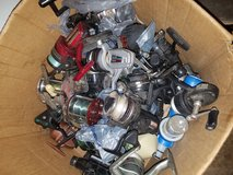 Box of fishing reels in Travis AFB, California