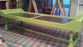 Beachy Apple Green and Slate Coffee Table in Greenville, North Carolina