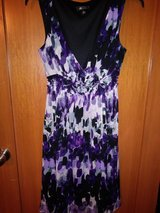 Purple print dress in Kingwood, Texas