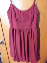 Burgundy dress in Spring, Texas