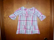 Girls Plaid shirt  4T in Naperville, Illinois