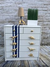 Unique Dresser/Chest with Dinosaur pulls w/Matching Lamp in Ramstein, Germany