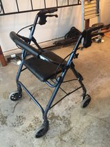 4 wheeled walker with brakes in Bolingbrook, Illinois