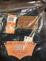 2 pair of BRAND NEW 501 Levi's (Size 35W 34L) in Leesville, Louisiana