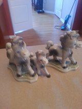 SET OF 3 CERAMIC OLDER HORSES COULD BE BOOK ENDS TOO in Sandwich, Illinois
