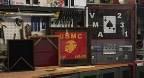 Shadow Boxes, Combination Flag/Certificate Displays, Flag Displays, Framed Guidon in Camp Lejeune, North Carolina