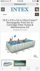 "Intex 18'x9'x52"" pool in Alamogordo, New Mexico"