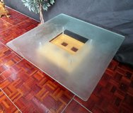 Glass Top Coffee Table with Milk Glass in Ramstein, Germany
