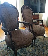 English Rose Wood Gentlemen Chairs in Bellaire, Texas