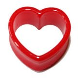 Red heart tunnels body jewelry in Camp Lejeune, North Carolina