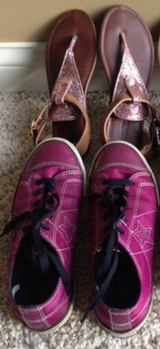 Girls Shoes, Size 3 in Naperville, Illinois