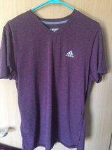Adidas - Burgundy/Maroon, with white accenting short sleeve shirt in Ramstein, Germany