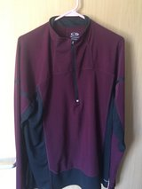Champion Maroon/Burgundy and Black Warm up Top in Ramstein, Germany
