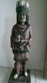INDIAN CIGAR STATUE / PLASTER INDIAN CHEIF STATUE 42 IN in Conroe, Texas