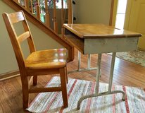 1940/50's Child Desk and Oak Chair in Naperville, Illinois