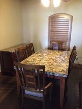 Dining Room Set (Table, 6 chairs and server) in Dyess AFB, Texas