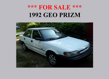 1992 Geo Prizm For Sale! A Must See! in bookoo, US