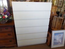 Dresser Tall 6 drawer (white) in Cherry Point, North Carolina
