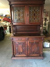 Oak Buffet w/ Stain Glass Doors 1800's in Cherry Point, North Carolina