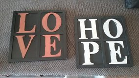 Love & Hope Wall decoration in San Diego, California