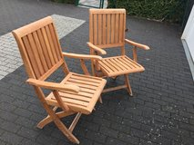 Two very heavy wood chairs in Baumholder, GE