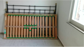 REDUCED! Metal bed with matressess 180 x 200 FREE DELIVERY in Stuttgart, GE