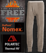 Army S.I. fire resistant NOMEX base layer: long underpants, desert tan, large regular in Fort Campbell, Kentucky