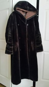 FAKE FUR COAT WITH HOOD in Naperville, Illinois