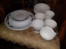 Black / White 21 Piece Corelle Dish Set in Fort Campbell, Kentucky