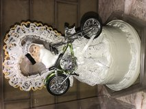 Motorcycle chopper wedding cake topper in Yucca Valley, California