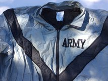 Skilcraft ARMY Reflective Jacket Windbreaker Gray Nylon Med/Long Vented Armpits Mens in Houston, Texas