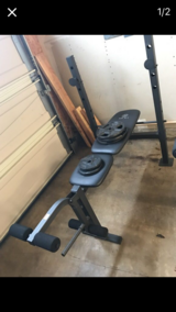 Female workout bench in San Clemente, California