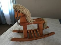 Wooden rocking horse in Naperville, Illinois