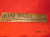 Antique City of BURLINGTON License Tag Topper in Cherry Point, North Carolina