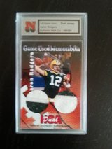 Aaron Rodgers Game Used Dual Jersey card with NSA Authentic Certification 1 of 1 in Ramstein, Germany