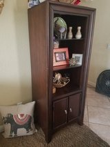 JC Penny  Solid Wood stand with glass shelf and cabinet at bottom in Camp Pendleton, California