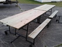 12 ft Folding picnic tables in Camp Lejeune, North Carolina
