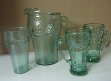 Coca Cola glass pitcher, 2 mugs, 1 glass in Montgomery, Alabama