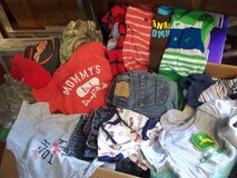 Diaper Box Full of Boys 6-9 Month Clothes in Leesville, Louisiana